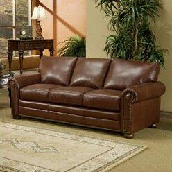 Omnia Leathersavannah Leather Sleeper Sofa
