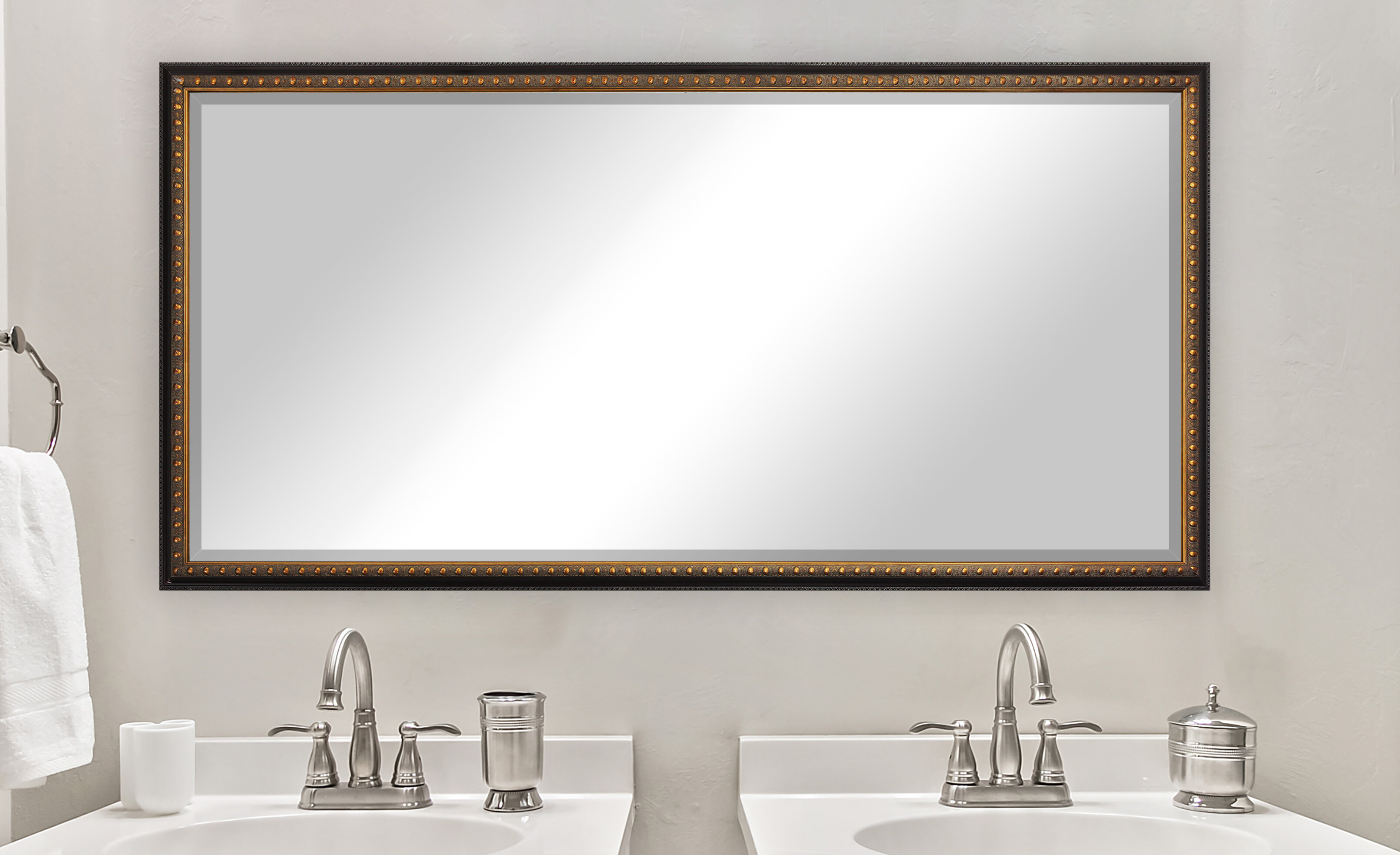 Astoria Grand Rozella Double Beveled Bathroom Vanity Mirror Wayfair