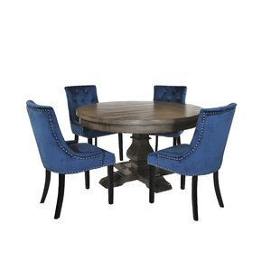 Iyed Dining Set With 4 Chairs By Rosalind Wheeler