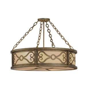 Meyda Tiffany Donya 4-Light Semi-Flush Mount