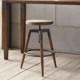 Deskins Adjustable Height Bar Stool by Williston Forge