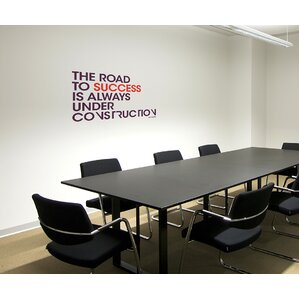 Beautiful Office Deco Transfer The Road To Success Wall Decal