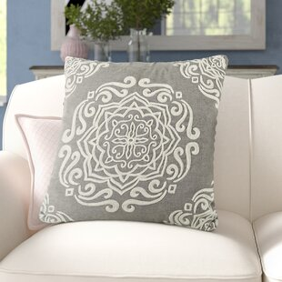 Lucile Embroidered Cotton Throw Pillow