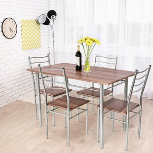 Casiano 5 Piece Dining Set by Winston Porter