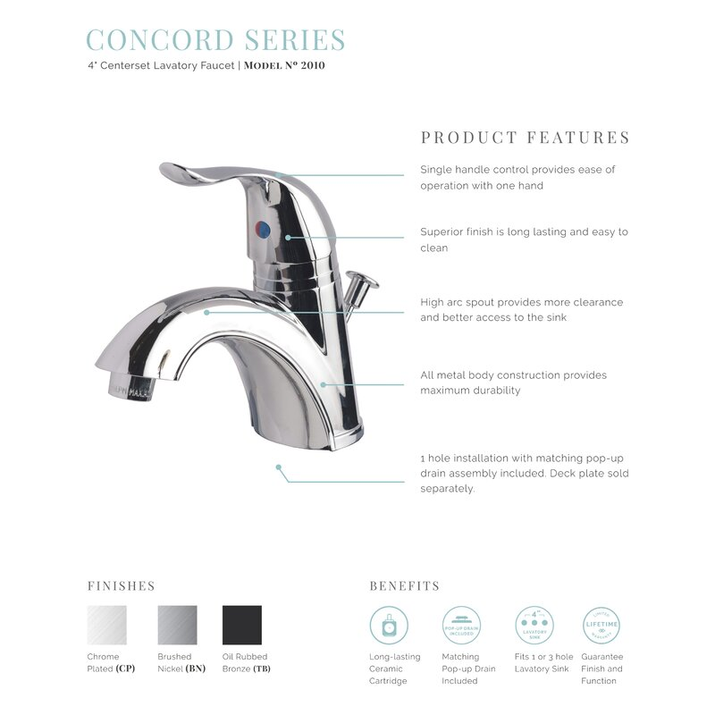 LagunaBrass Bathroom Sink Faucet with Drain Assembly & Reviews | Wayfair