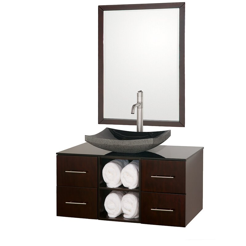 Abba 36 Single Bathroom Vanity Set With Mirror