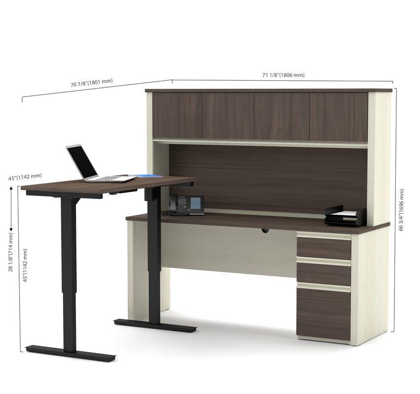 Bormann L Shape Standing Desk With Hutch