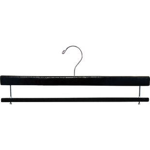 Great deal Broussard Extra Long Pant Wood Pant Hanger (Set of 50) By Rebrilliant