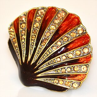 Cloisonne Seashell Novelty Knob (Set of 4)