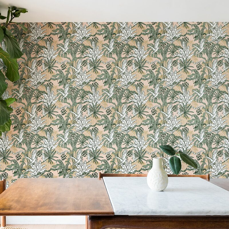 Marta Barragan Camarasa Jungle 10 L X 24 W Matte And Stick Wallpaper