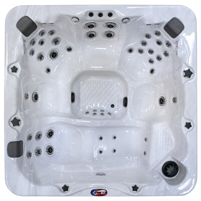 7-Person 56-Jet Hot Tub with Bluetooth Stereo System American Spas