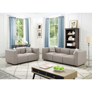 Compare Karol Linen-Like 2 Piece Modular Living Room Sofa Set by Ivy Bronx Reviews (2019) & Buyer's Guide