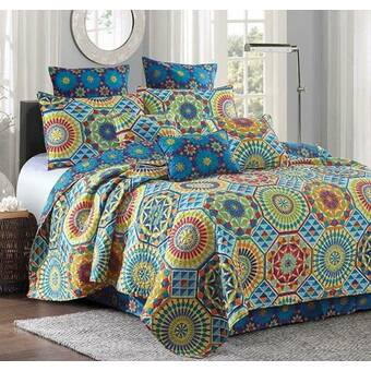 Bungalow Rose Zeledon Mudra Mandala Quilt Set Wayfair