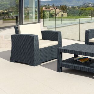 Vedder Resin Patio Arm Chair with Cushion