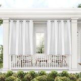 Denton Exclusive Home Curtains Cabana Solid Room Darkening Indoor/Outdoor Grommet Curtain Panels (Set of 2)