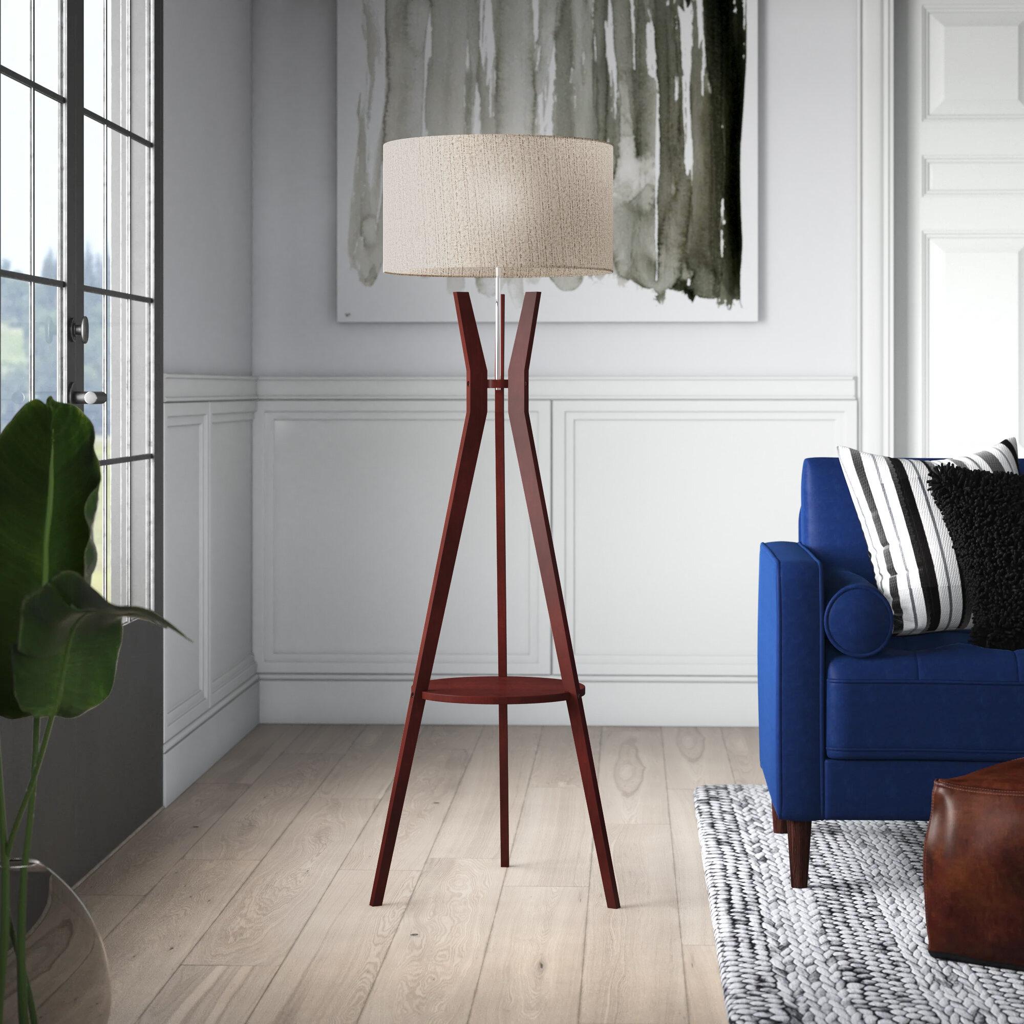 Mercury Row Bogardus 60 Tripod Floor Lamp Reviews Wayfair [ 2000 x 2000 Pixel ]