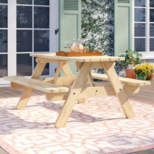 Jaqueline Wooden Picnic Bench By Sol 72 Outdoor