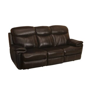 Koschwanez Leather Reclining Sofa by Red Barrel Studio
