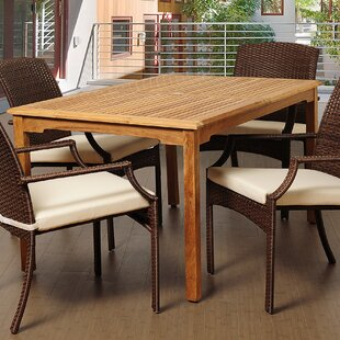Brighton Teak Dining Table by Sol 72 Outd..