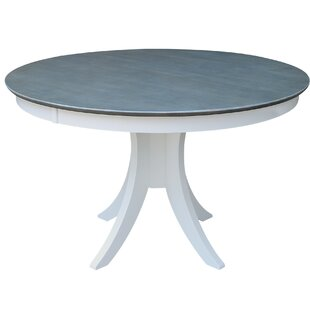Round Pedestal Solid Wood Dining Table