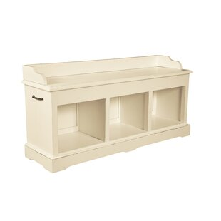 Cavallaro Wood Storage Bench By Beachcrest Home
