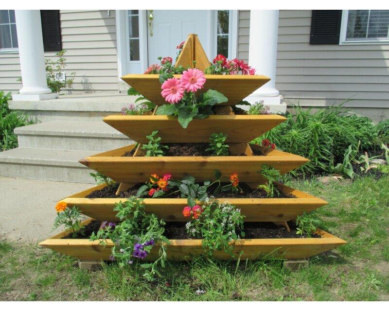4 Ft X 4 Ft Cedar Vertical Garden & Reviews
