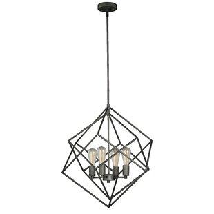 Abigale 4-Light Geometric Chandelier by Wrought Studio