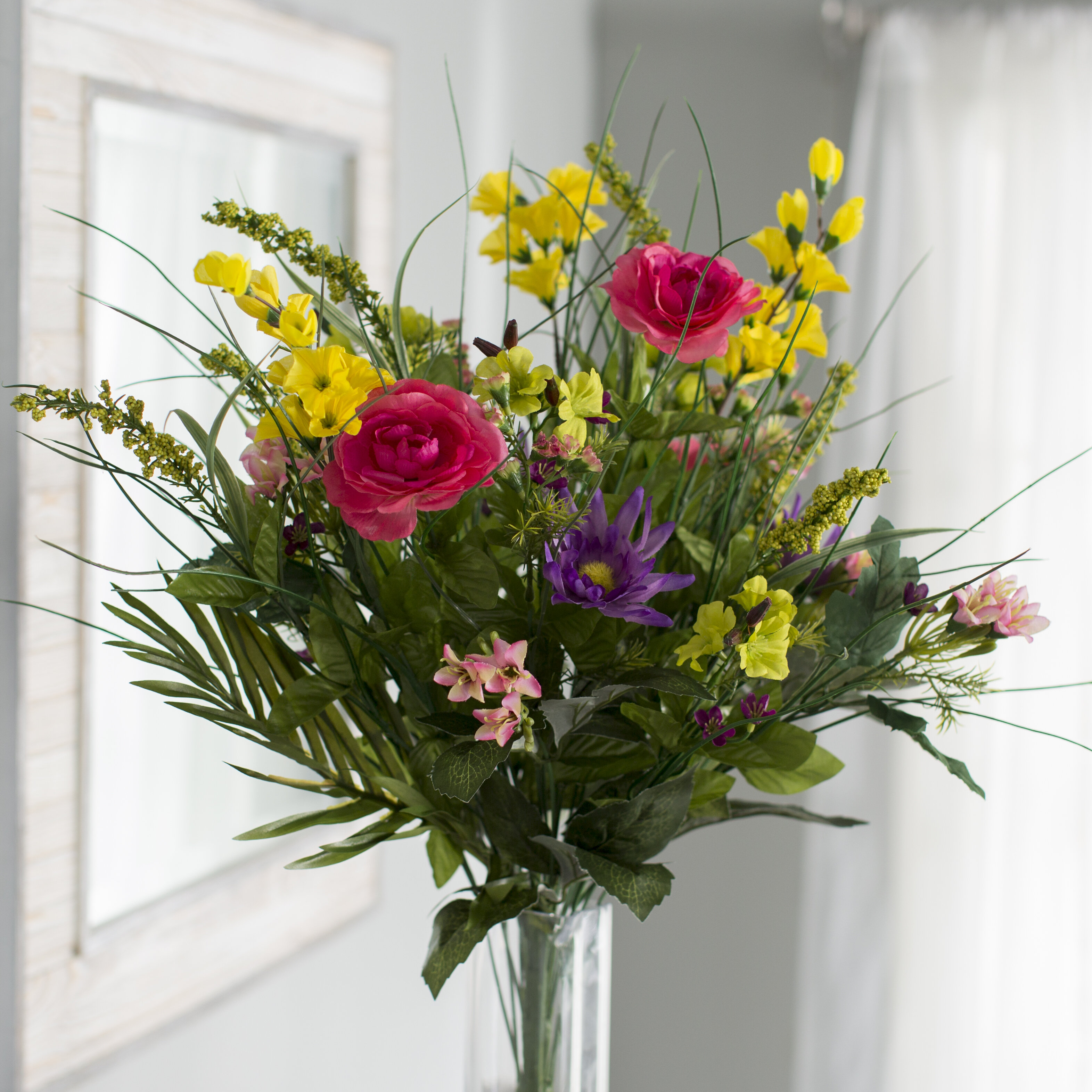 Mixed Faux Flowers You Ll Love In 2021 Wayfair
