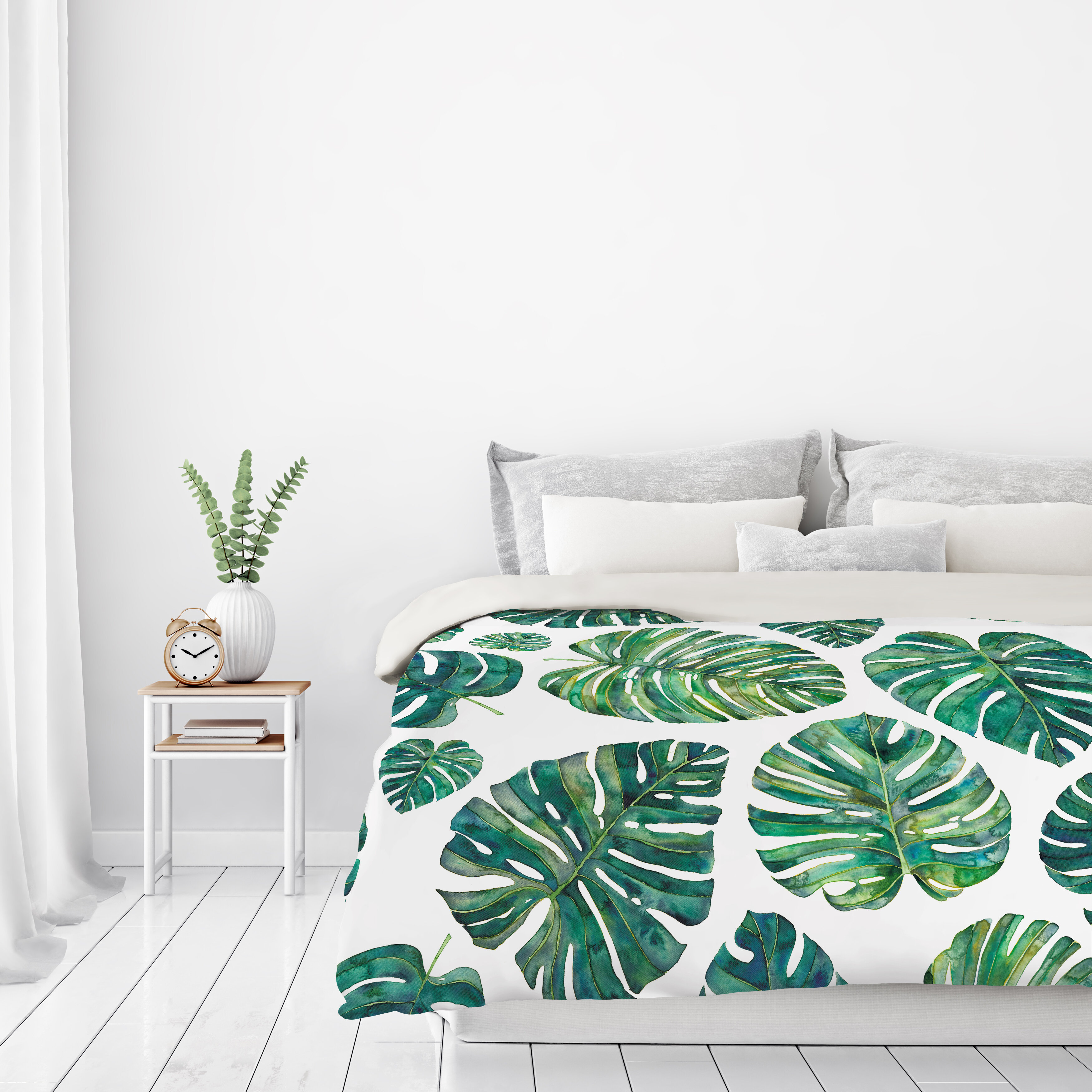 East Urban Home Tropical Leaves Duvet Cover Wayfair This windowleaf is a popular foliage plant in hawaii, it has glossy green leaves that are pinnately split and perforated with oblong holes. wayfair