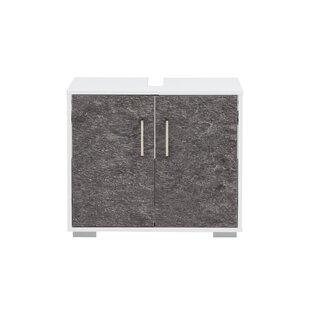 Review Mcchristian 65cm Wall-Mounted Under Sink Storage Unit