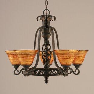 Astoria Grand Pierro 5-Light Shaded Chandelier