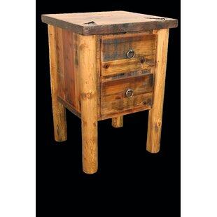 Loon Peak Jorgensen 2 Drawer Nightstand