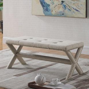 Charlton Home Vanslyke Upholstered Bedroom Bench