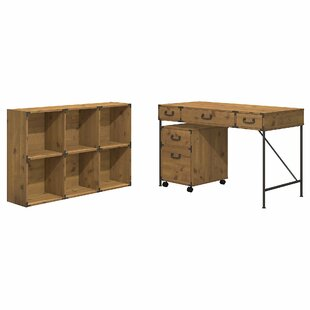 Ironworks Desk Office Suite by Kathy Ireland Office Bush