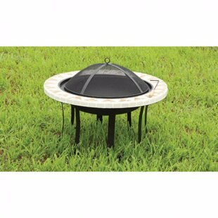 Benzara Ardoch Cast Iron Fire Pit Table