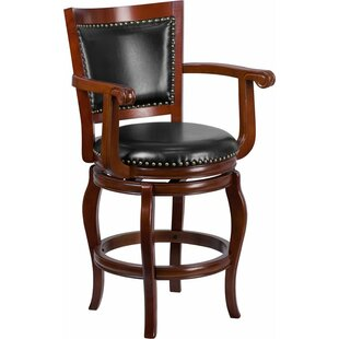 Best Reviews Matheson 26'' Panel Back Swivel Bar Stool by Darby Home Co Reviews (2019) & Buyer's Guide
