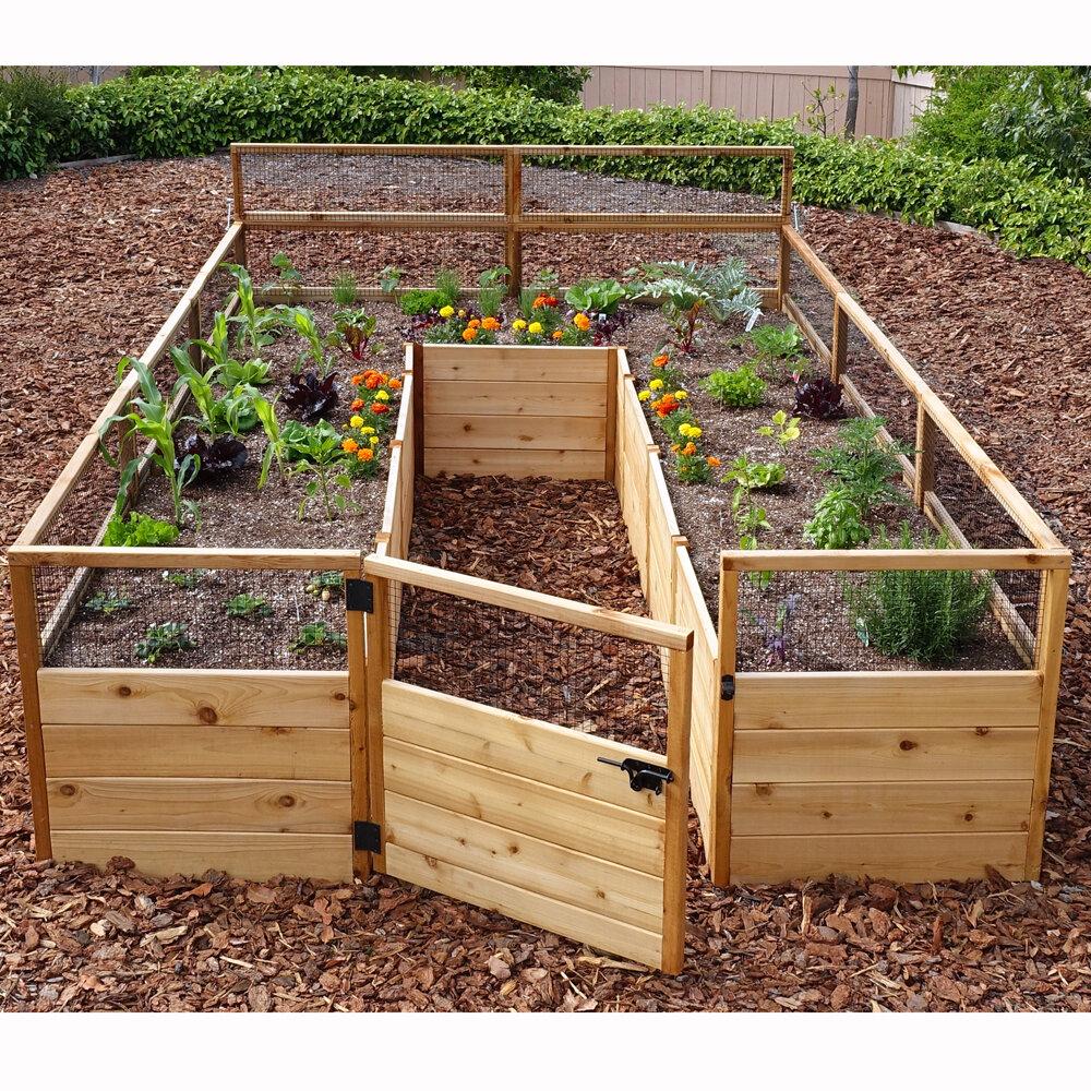 Outdoor Living Today 8 ft x 12 ft Western Red Cedar Raised Garden ...