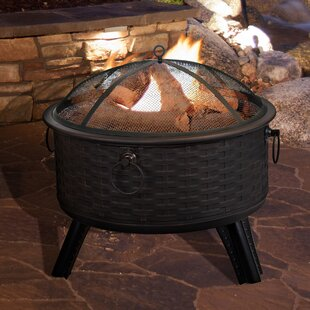 Pure Garden Steel Wood Burning Fire Pit