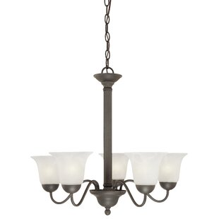 Baum 5-Light Shaded Chandelier by Charlton Home