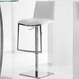 Jaycee Swivel Adjustable Height Bar Stool by Brayden Studio®