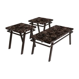 Riviera 3 Piece Coffee Table Set (Set of 3)