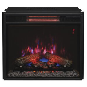 Hoyleton Infrared Quartz Wall Mounted Electric Fireplace Insert by Winston Porter