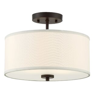 Wrought Studio Salmons 2-Light Semi Flush Mount