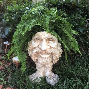 Muggly The Face Axle Statue Planter by HomeStyles