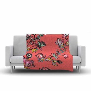 Online Reviews Victoria Krupp Magnolia Floral Fleece Blanket By East Urban Home