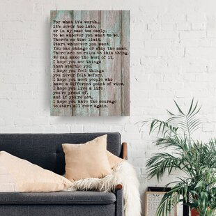 Inspirational Quotes & Sayings Wall Art You'll Love in 2019