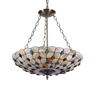Normant Mosaic 3-Light Bowl Pendant by Highland Dunes
