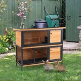 Wightman Weather Resistant Rabbit Hutch with Ramp