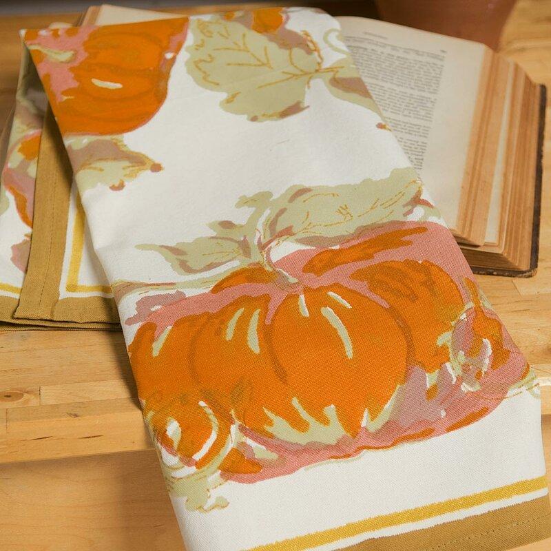 Pumpkin Orange Yellow Tea Towel