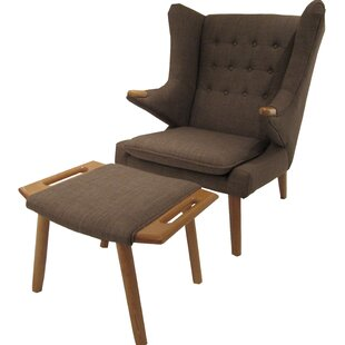 Styron Wingback Chair and Ottoman by Corrigan Studio
